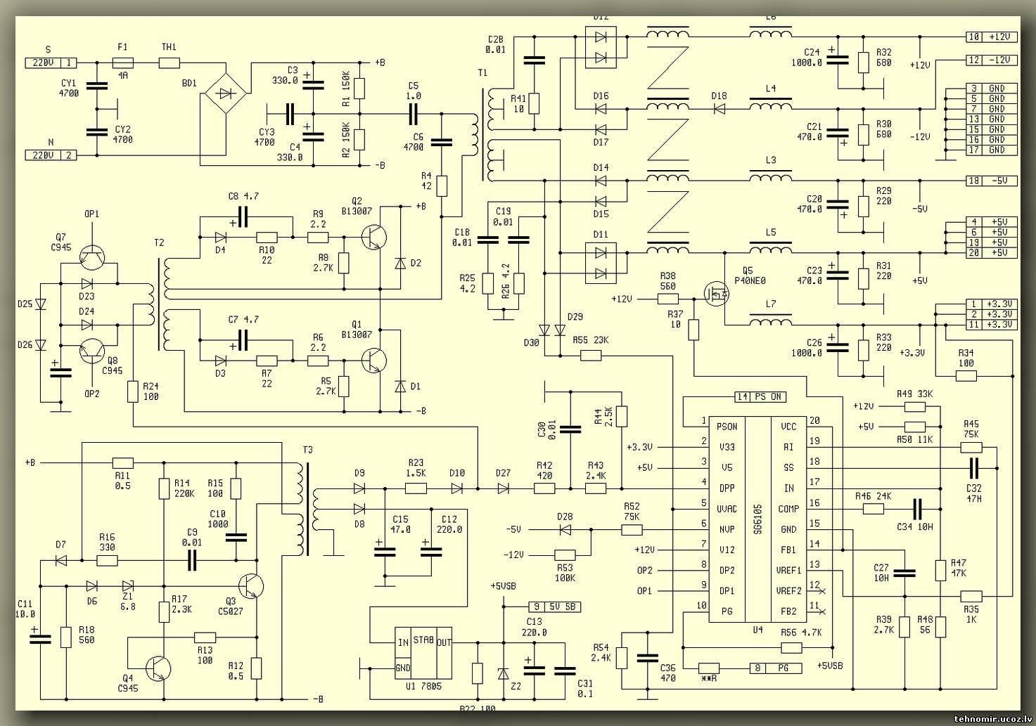 Ремонт блока питания компьютера своими руками фото 68